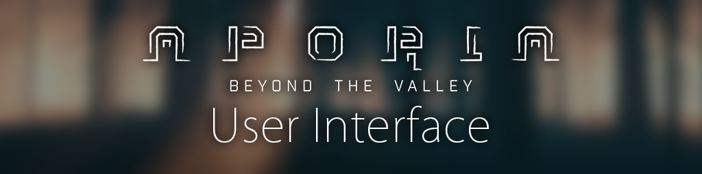 Behind the design of the UI in Aporia: Beyond the Valley